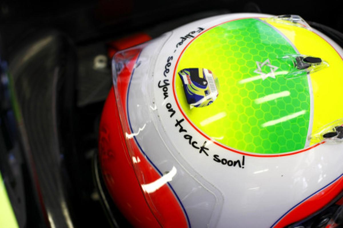 バリチェロ、ヘルメットにマッサへのメッセージ