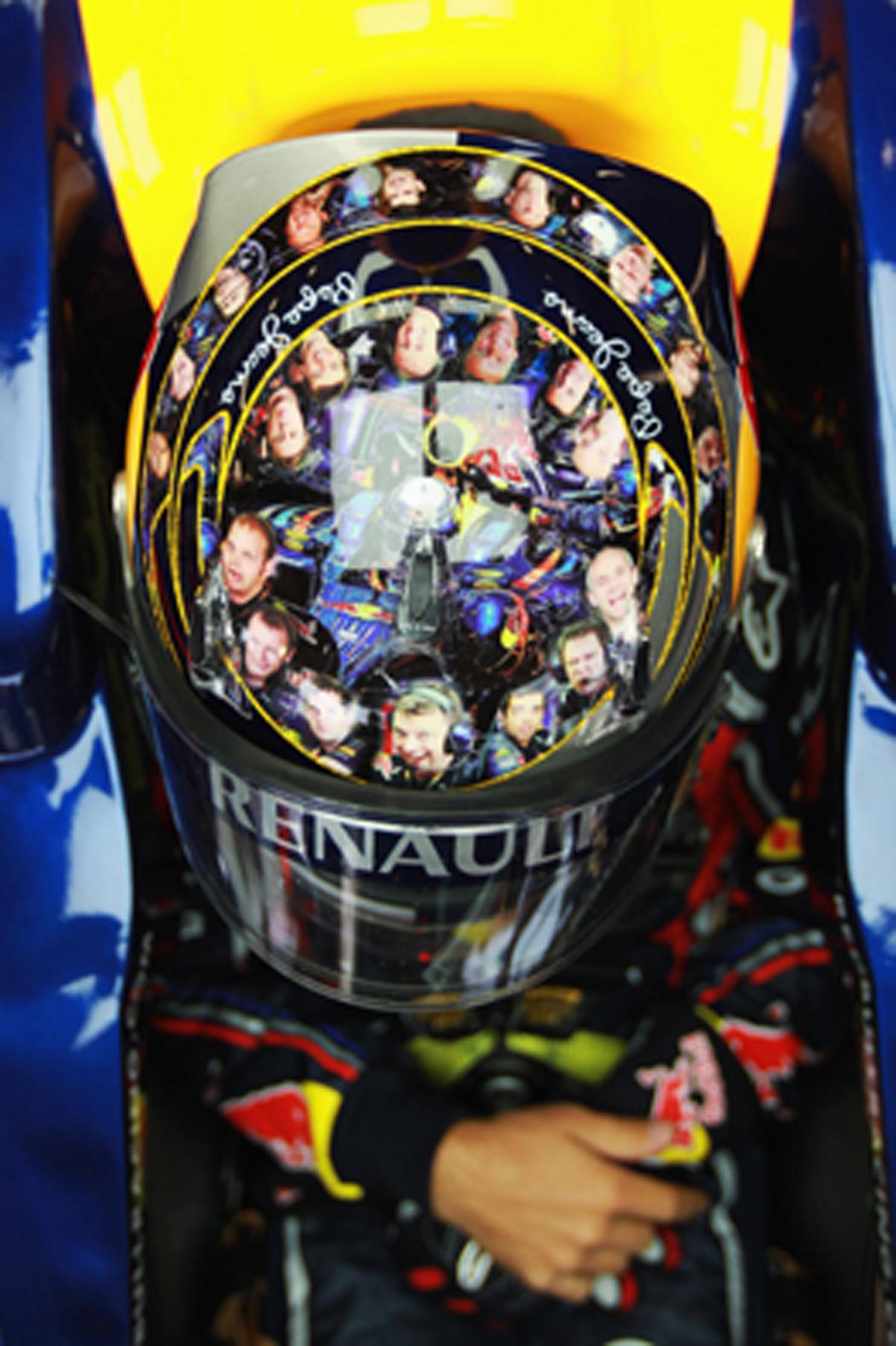セバスチャン・ベッテル F1イギリスGP ヘルメット
