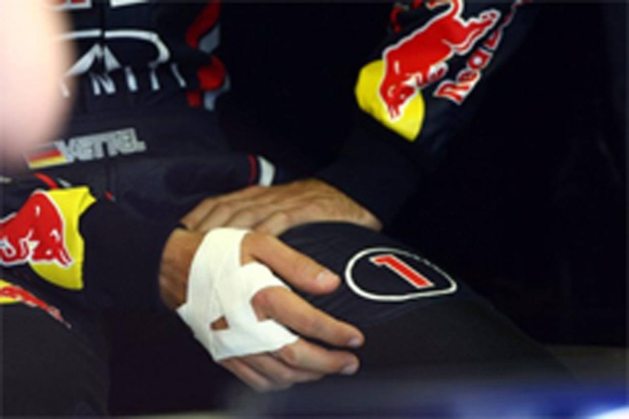レッドブル 「ベッテルの手の怪我はたいした怪我ではない」