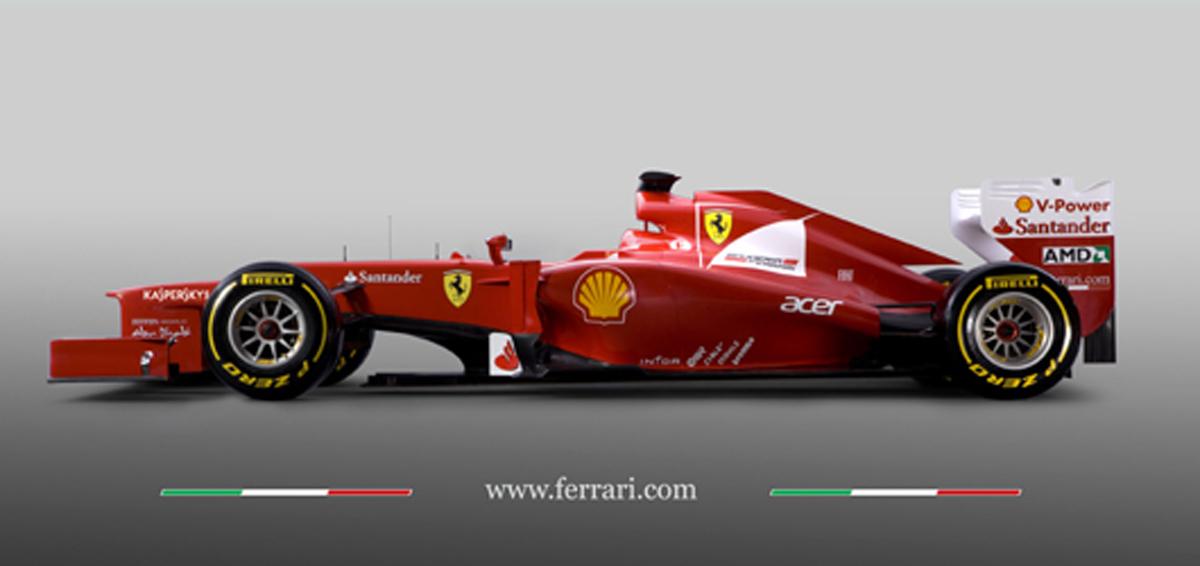 フェラーリ F2012 サイド画像
