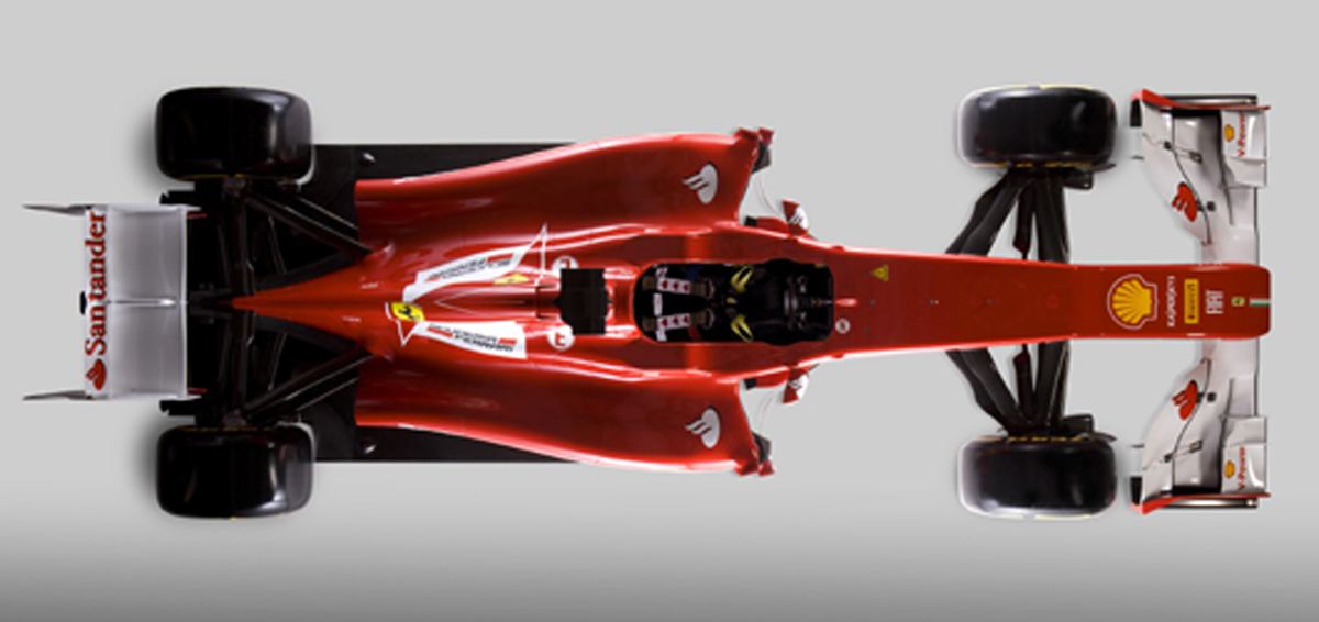 フェラーリ F2012 俯瞰画像