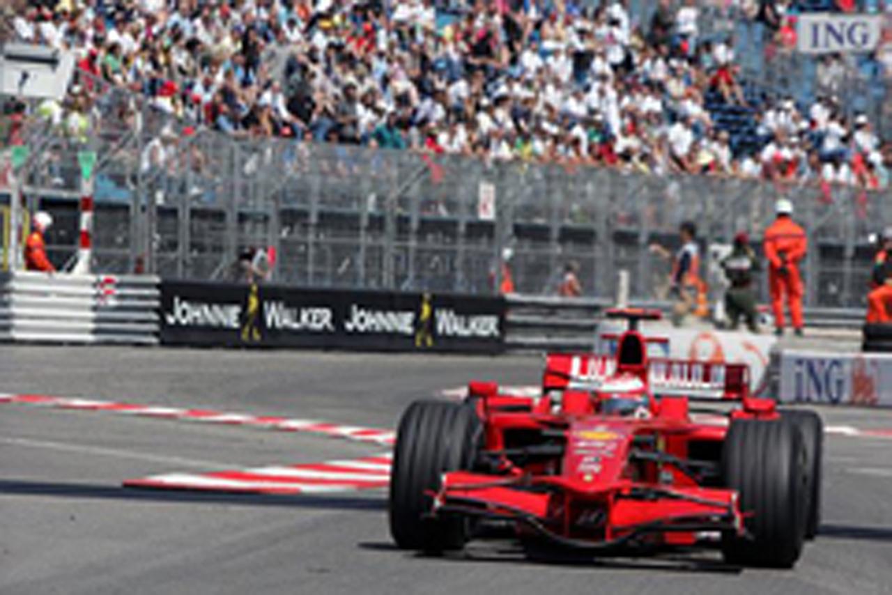 F1 モナコGP フリー走行1回目 キミ・ライコネン(画像)