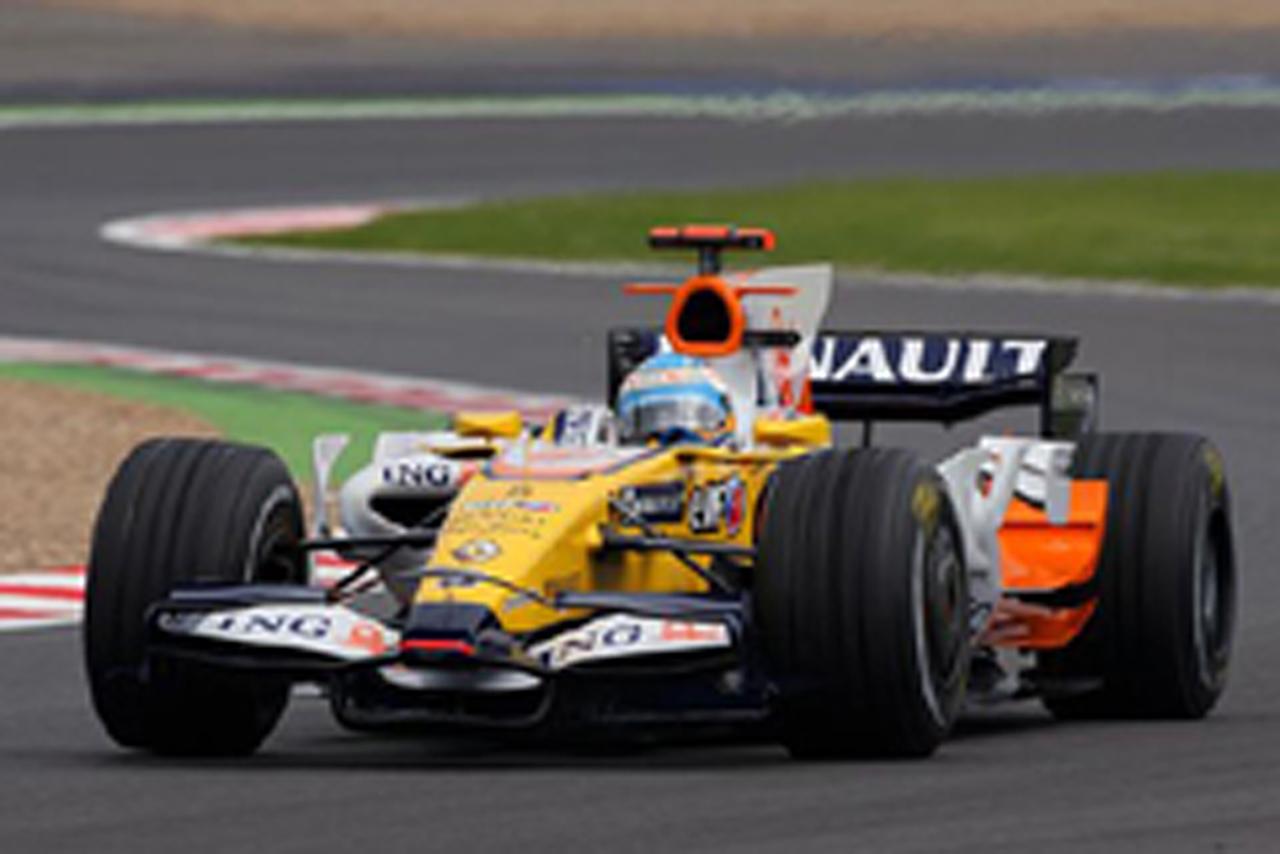 F1 フランスGP フリー走行2回目 フェルナンド・アロンソ(ルノー)がトップタイム