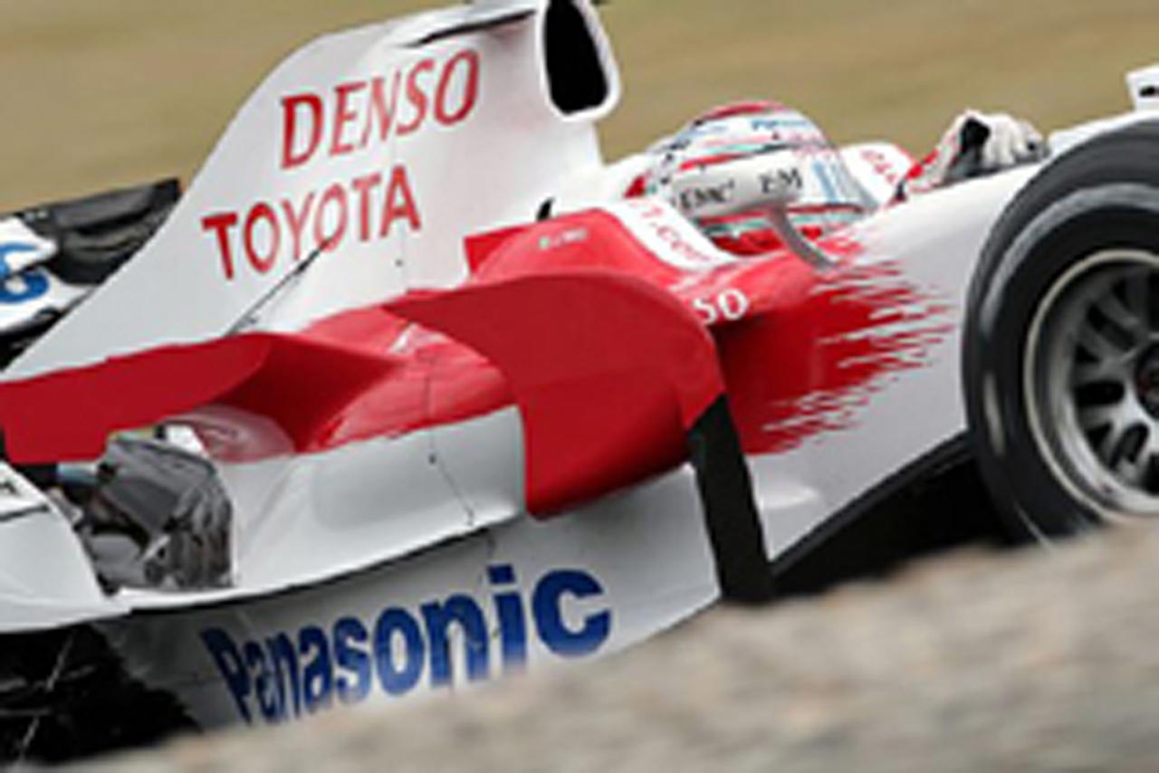 4番グリッドを獲得したヤルノ・トゥルーリ(トヨタF1チーム)