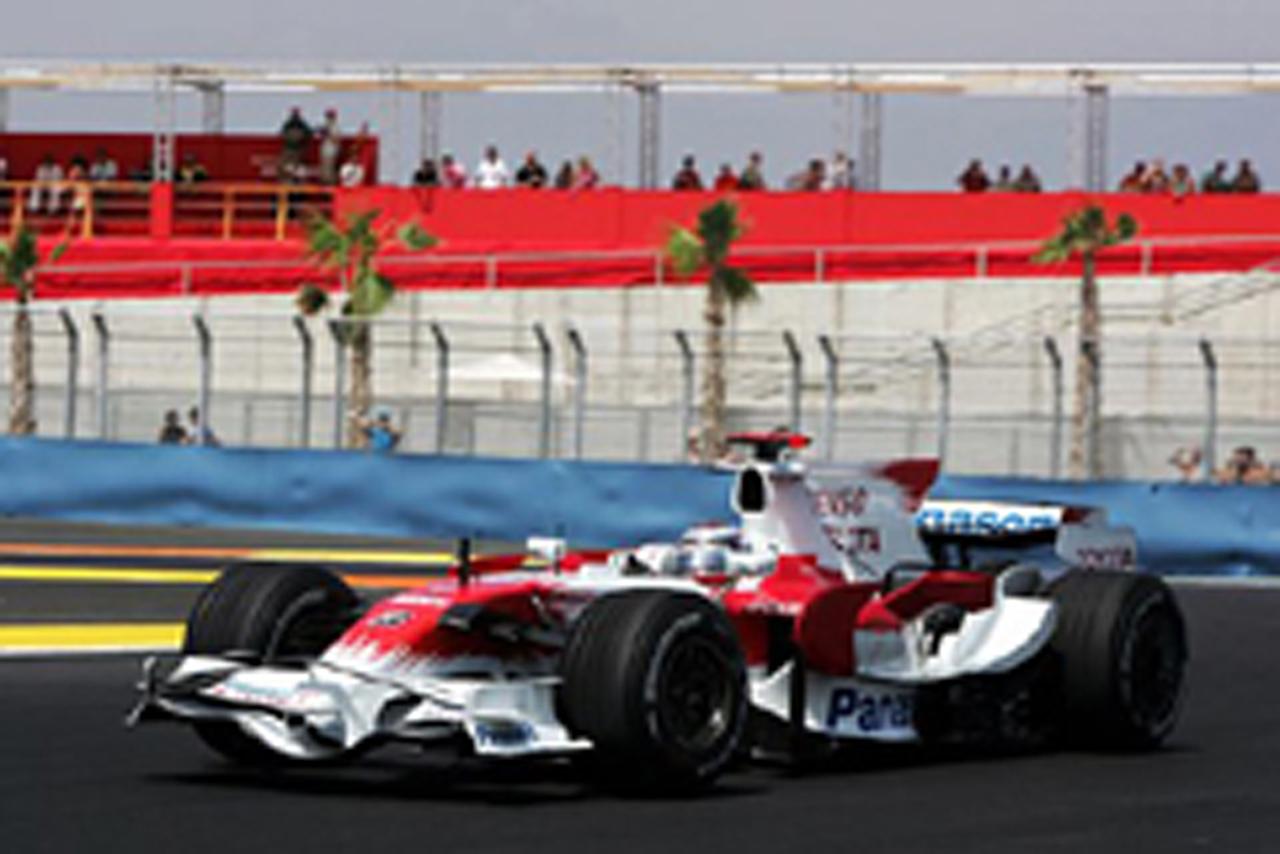 トヨタF1チーム(ヨーロッパGP初日)
