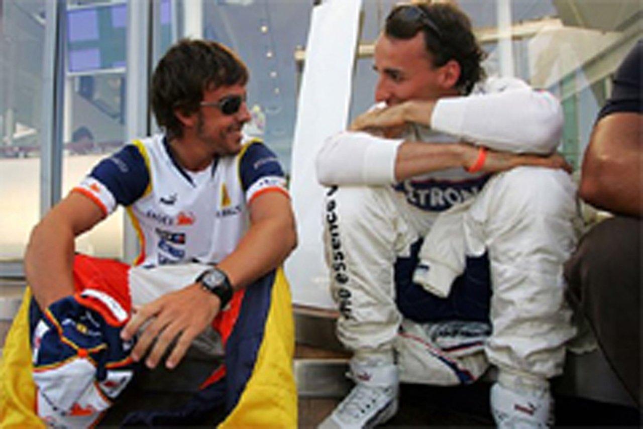 BMW移籍が噂されるフェルナンド・アロンソとロバート・クビサ