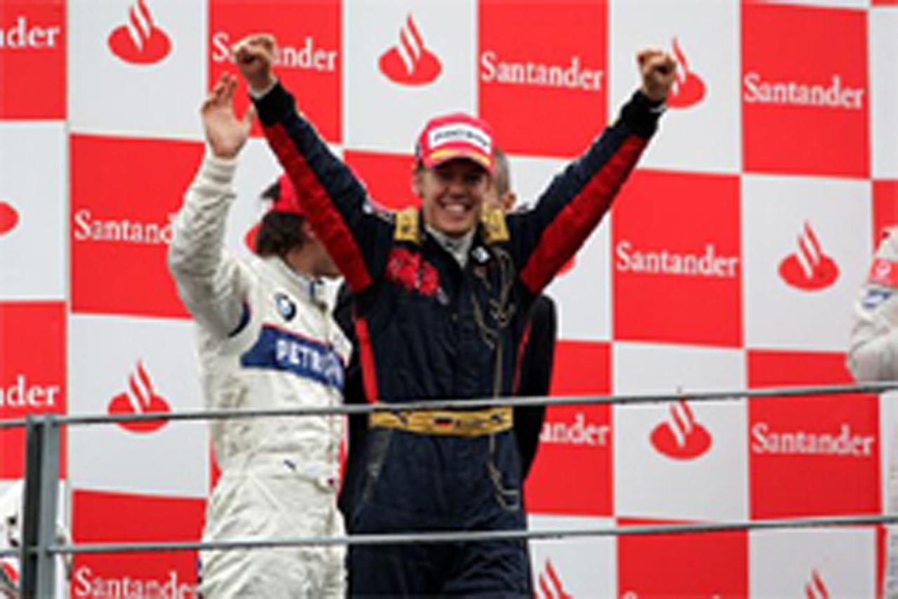 F1史上最年少記録で初優勝を遂げたセバスチャン・ベッテル(イタリアGP)