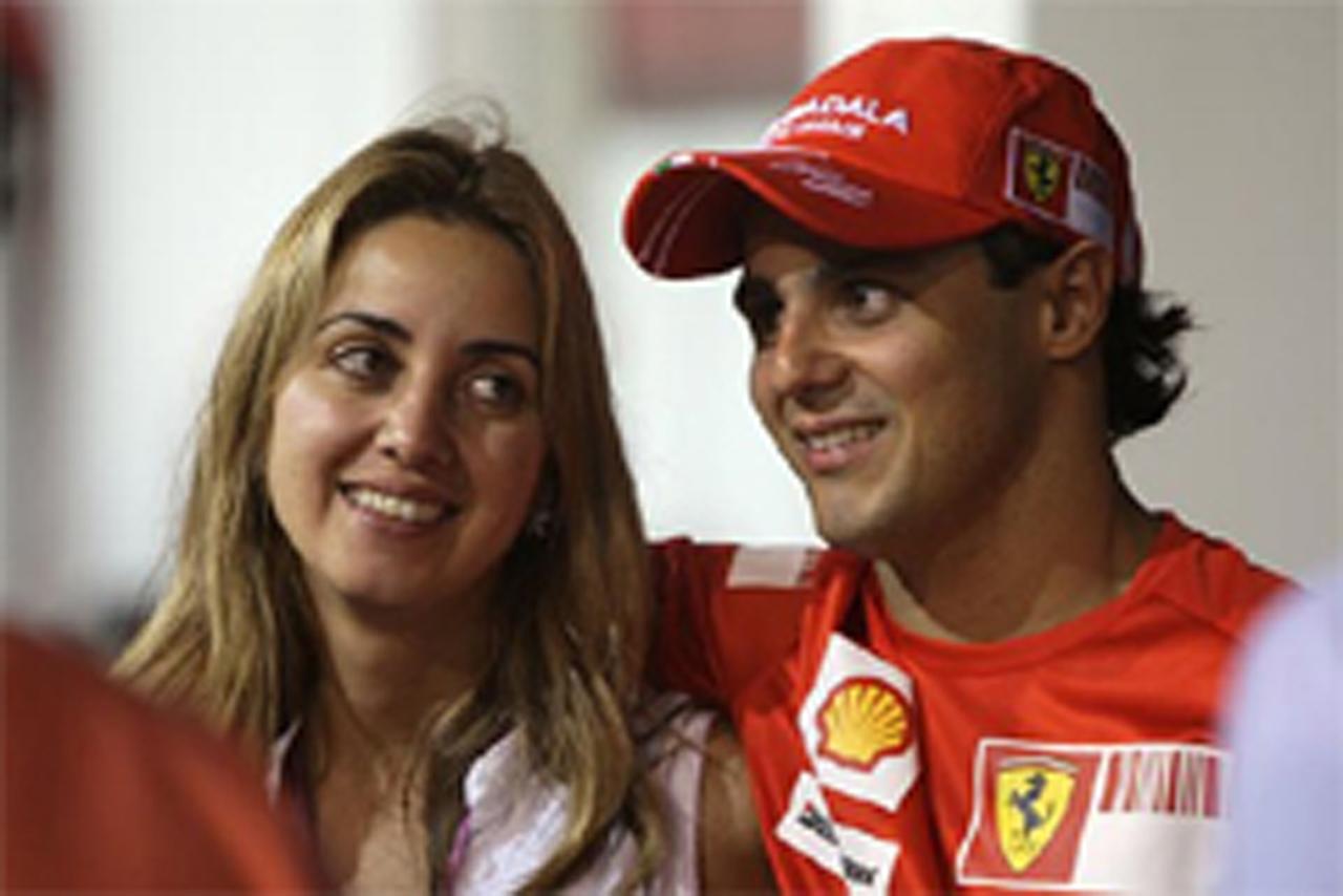 フェリペ・マッサと妻ラファエラ・バッシ