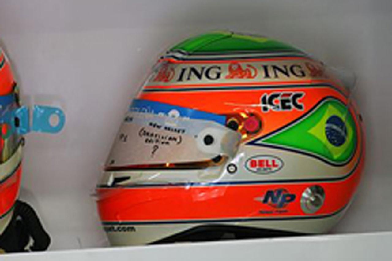 ネルソン・ピケJr. ブラジルGP特別ヘルメット(画像)