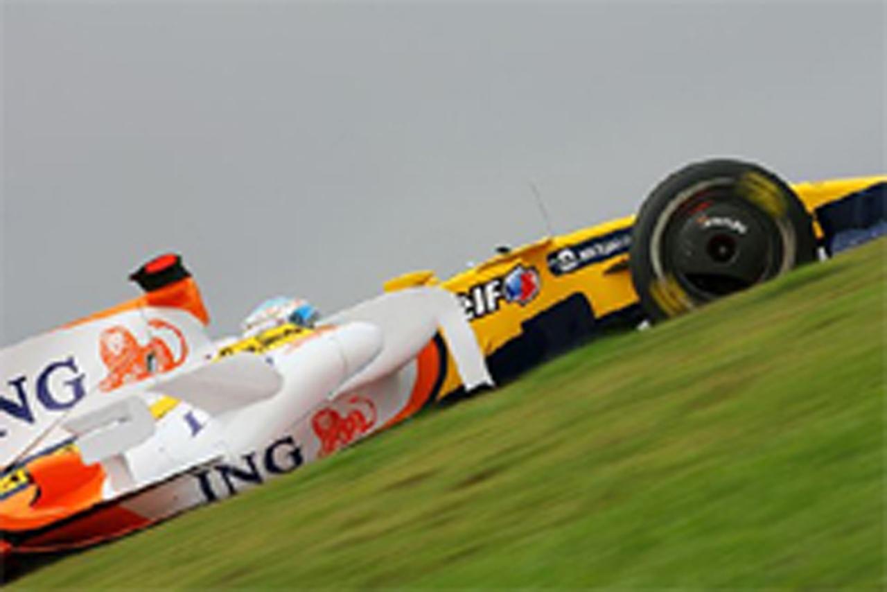 F1 ブラジルGP フリー走行3回目 アロンソ