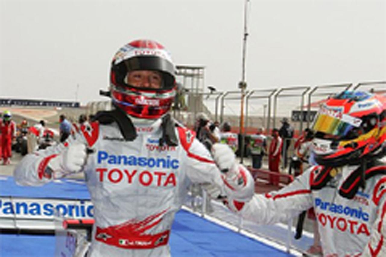 ポールポジションを獲得したヤルノ・トゥルーリ (トヨタF1)