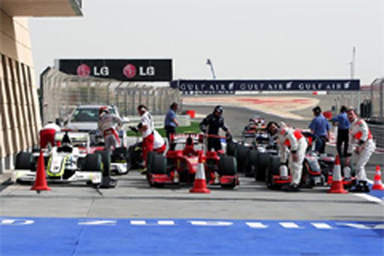 F1 バーレーンGP マシン重量