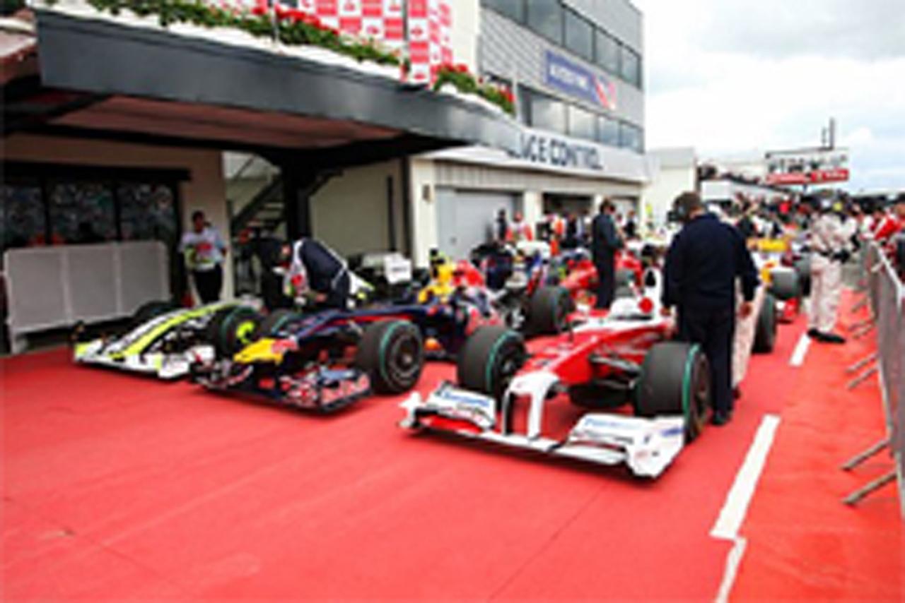 F1 イギリスGP マシン重量