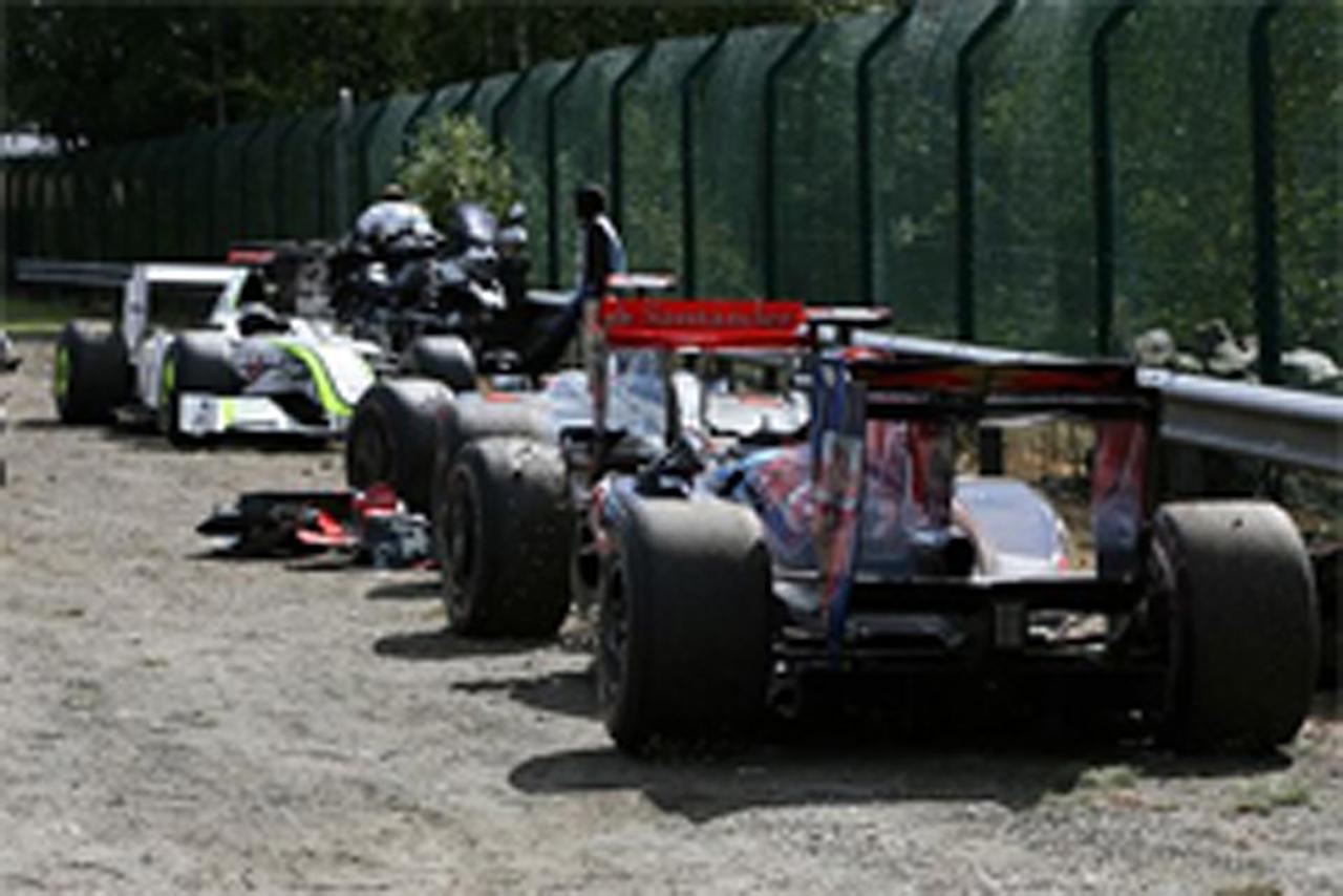 F1ベルギーGP クラッシュ
