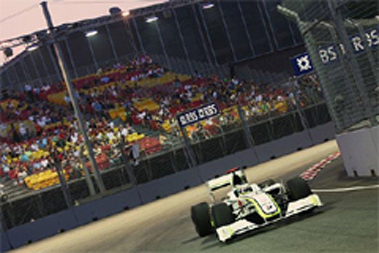 ブラウンGP F1シンガポールGP 初日