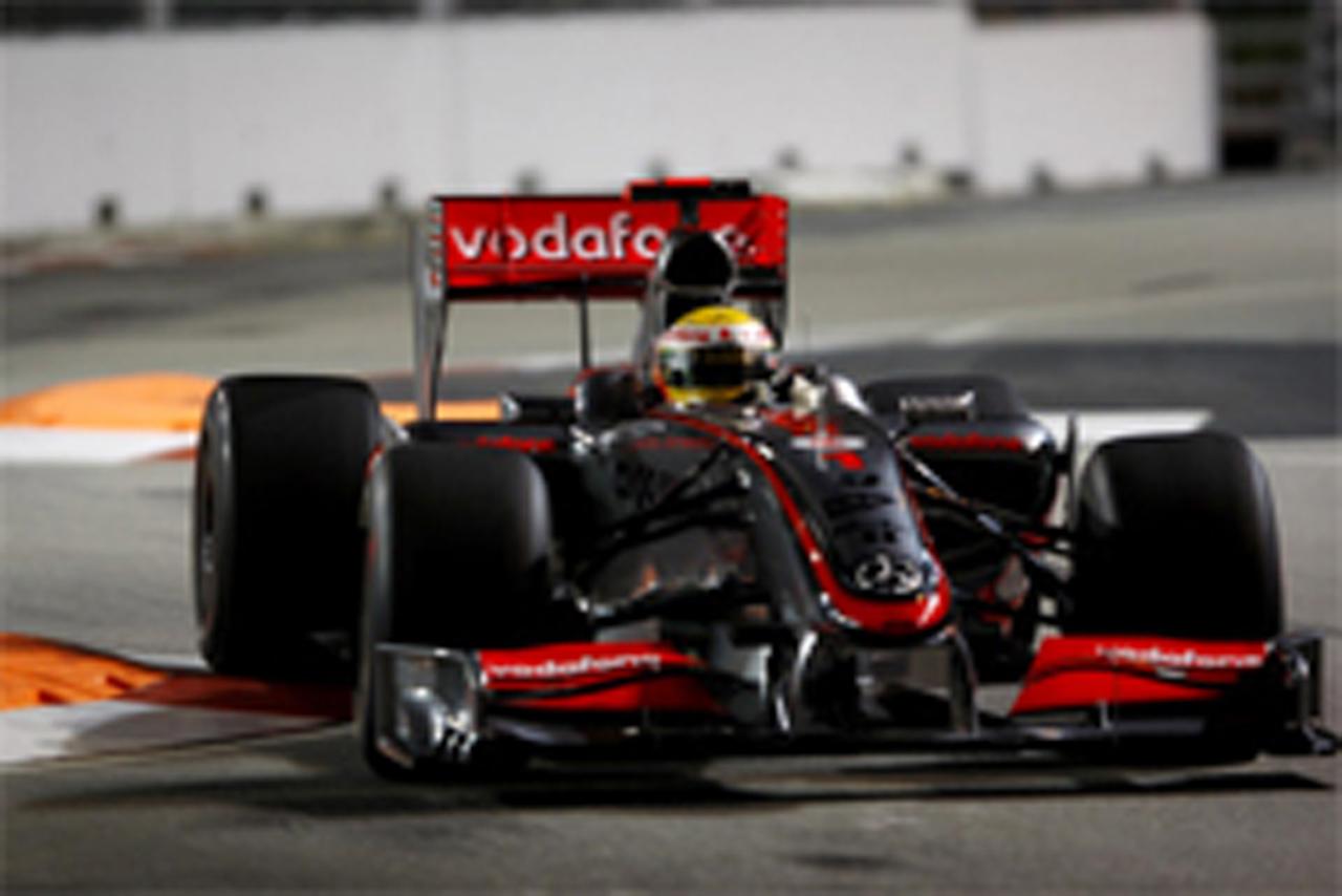 F1シンガポールGP フリー走行3回目 ルイス・ハミルトン