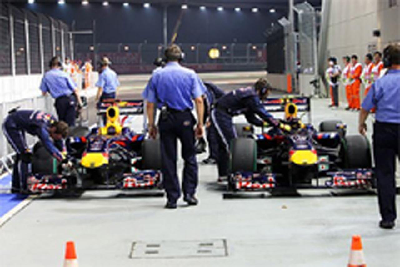 F1シンガポールGP マシン重量