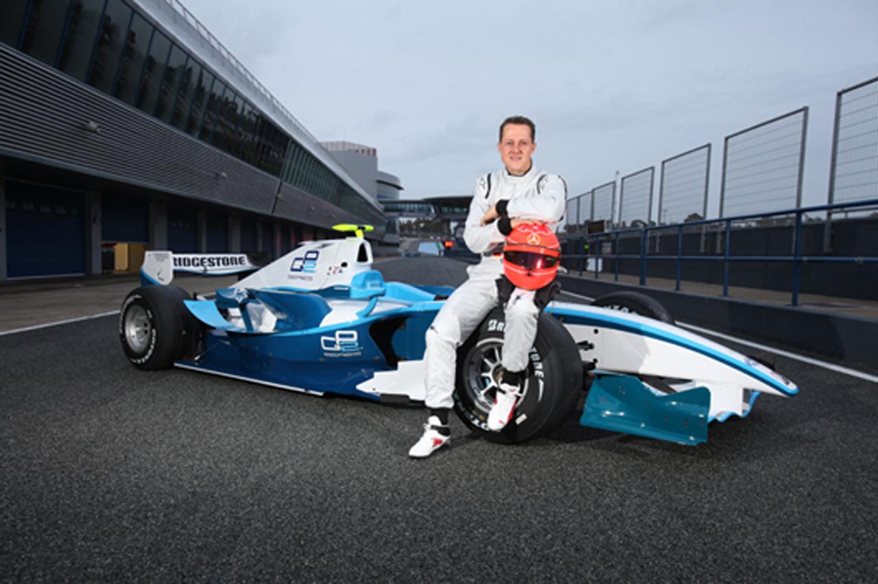 ミハエル・シューマッハ GP2をテスト