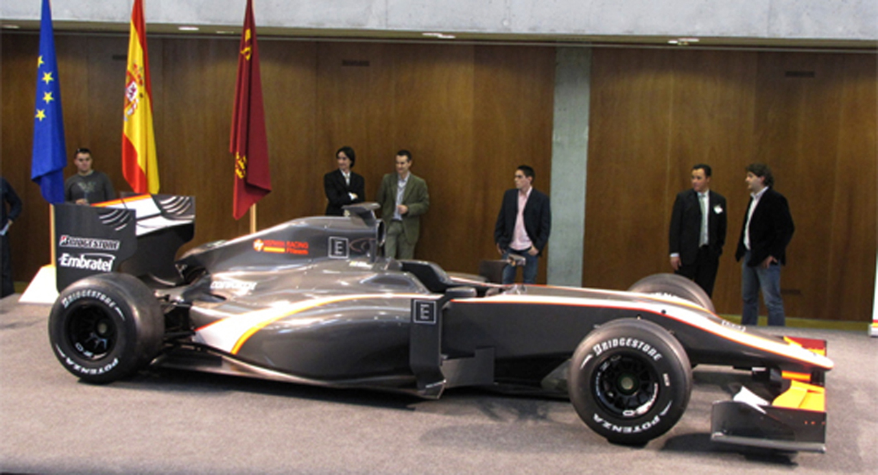 ヒスパニア・レーシング F1マシン(画像3)