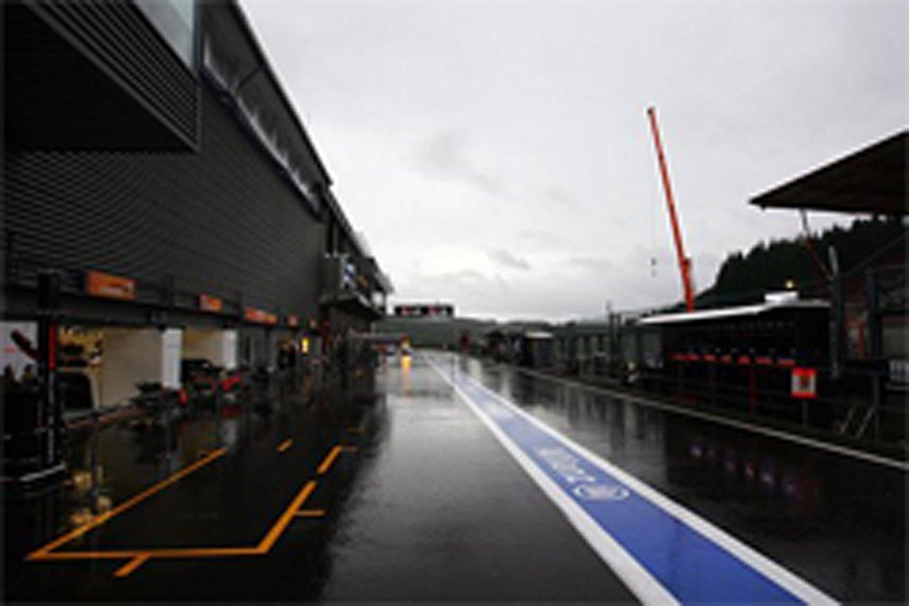 F1ベルギーGP フリー走行1回目