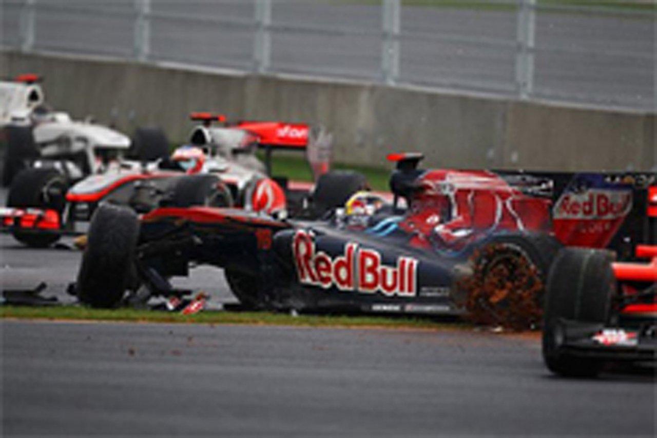 F1韓国GP 接触事故