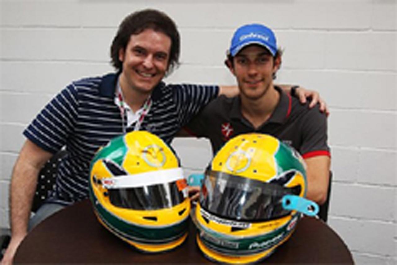 ブルーノ・セナ F1ブラジルGP特別ヘルメット