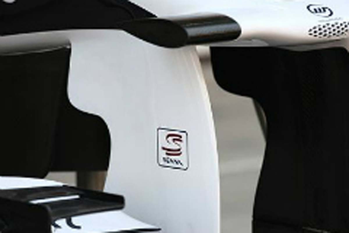 アイルトン・セナのロゴをマシンに掲載するウィリアムズ