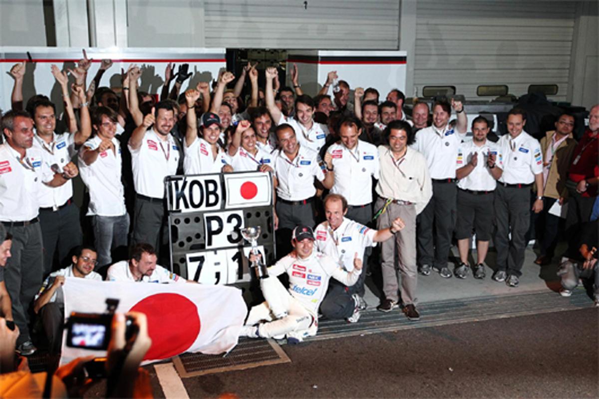 小林可夢偉 3位表彰台 F1日本GP