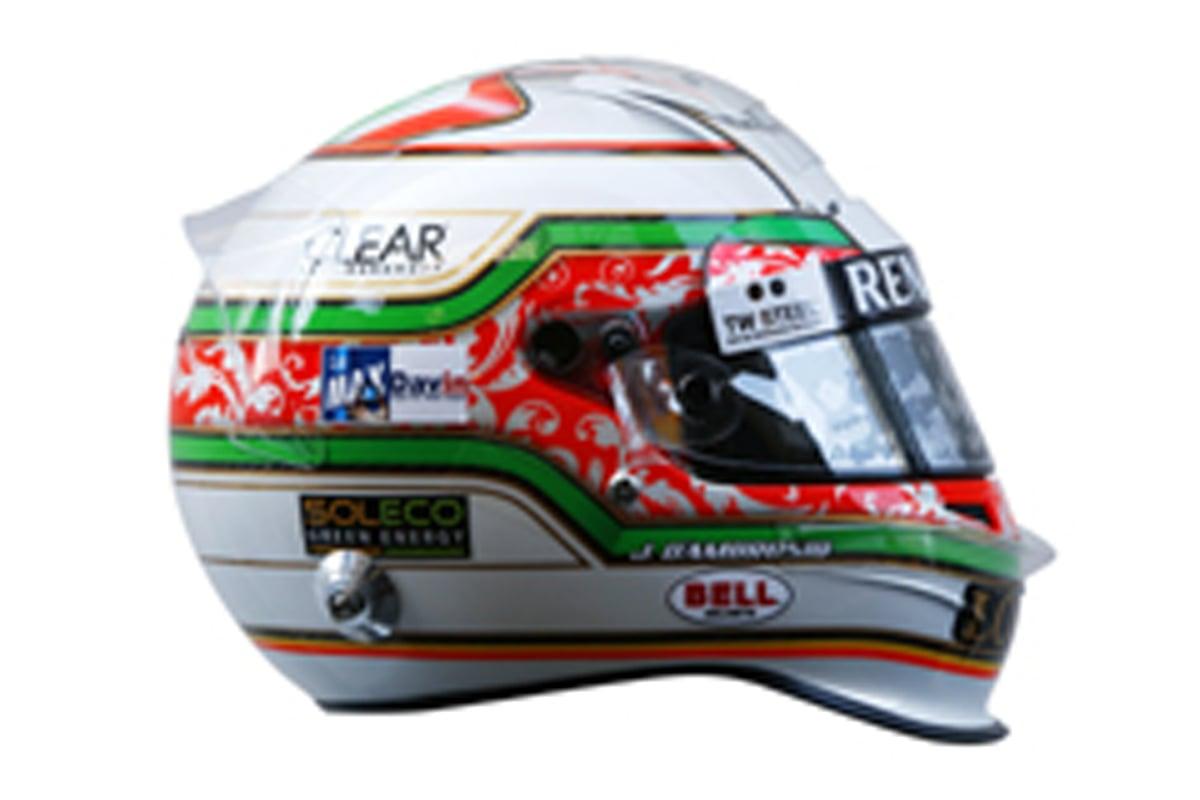 ジェローム・ダンブロシオ F1イタリアGP ヘルメット