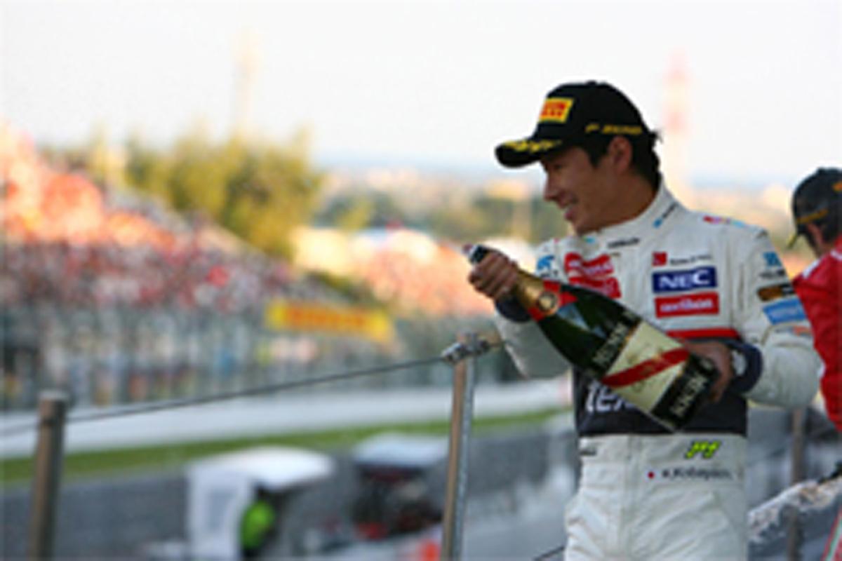 小林可夢偉 表彰台 F1日本GP