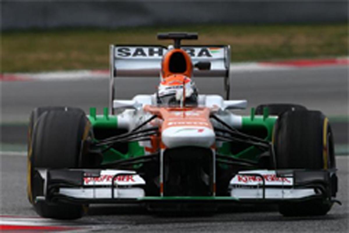 エイドリアン・スーティル F1 バルセロナテスト