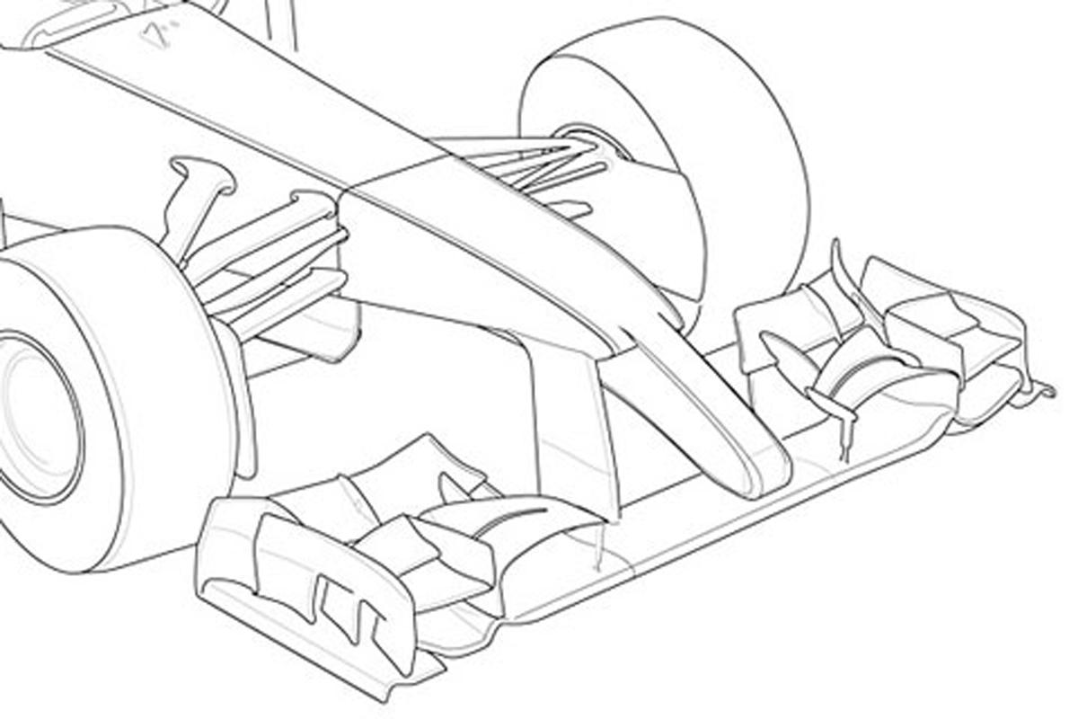 2014年 F1マシン ノーズ