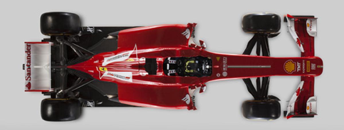フェラーリ F138 (俯瞰)