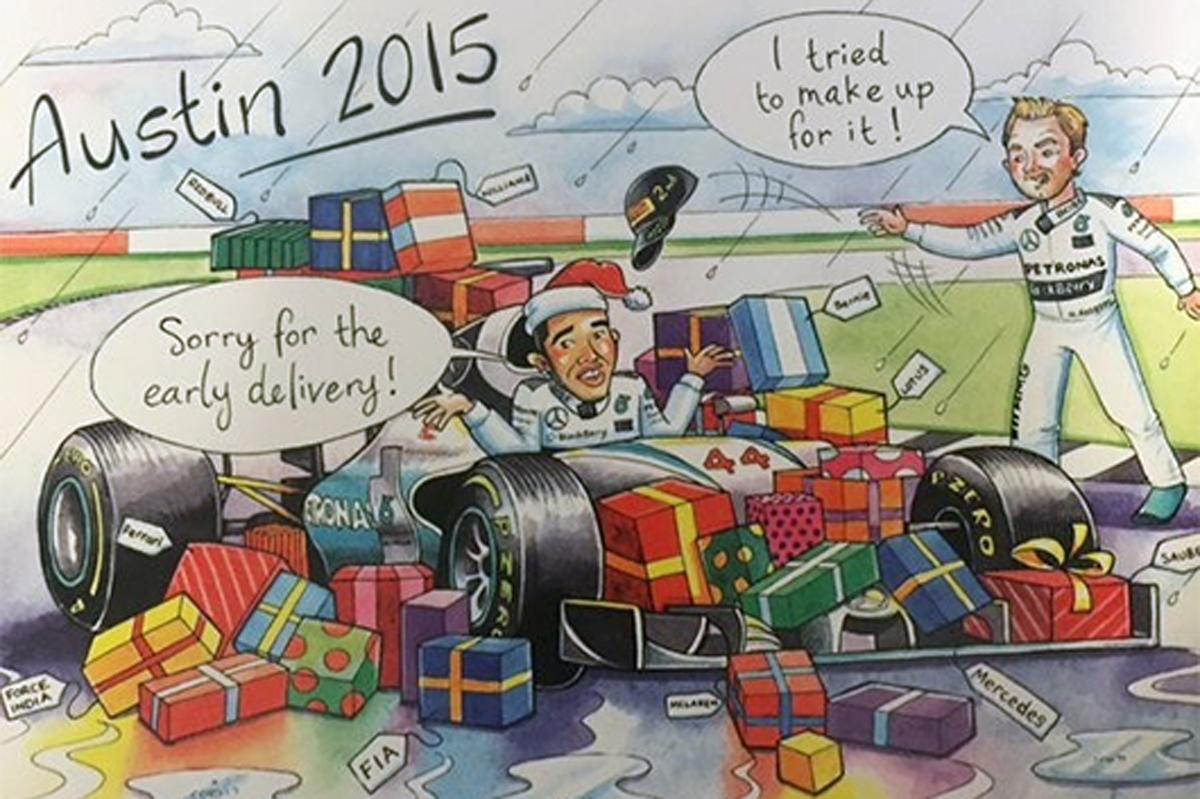 バーニー・エクレストン クリスマスカード 2015年