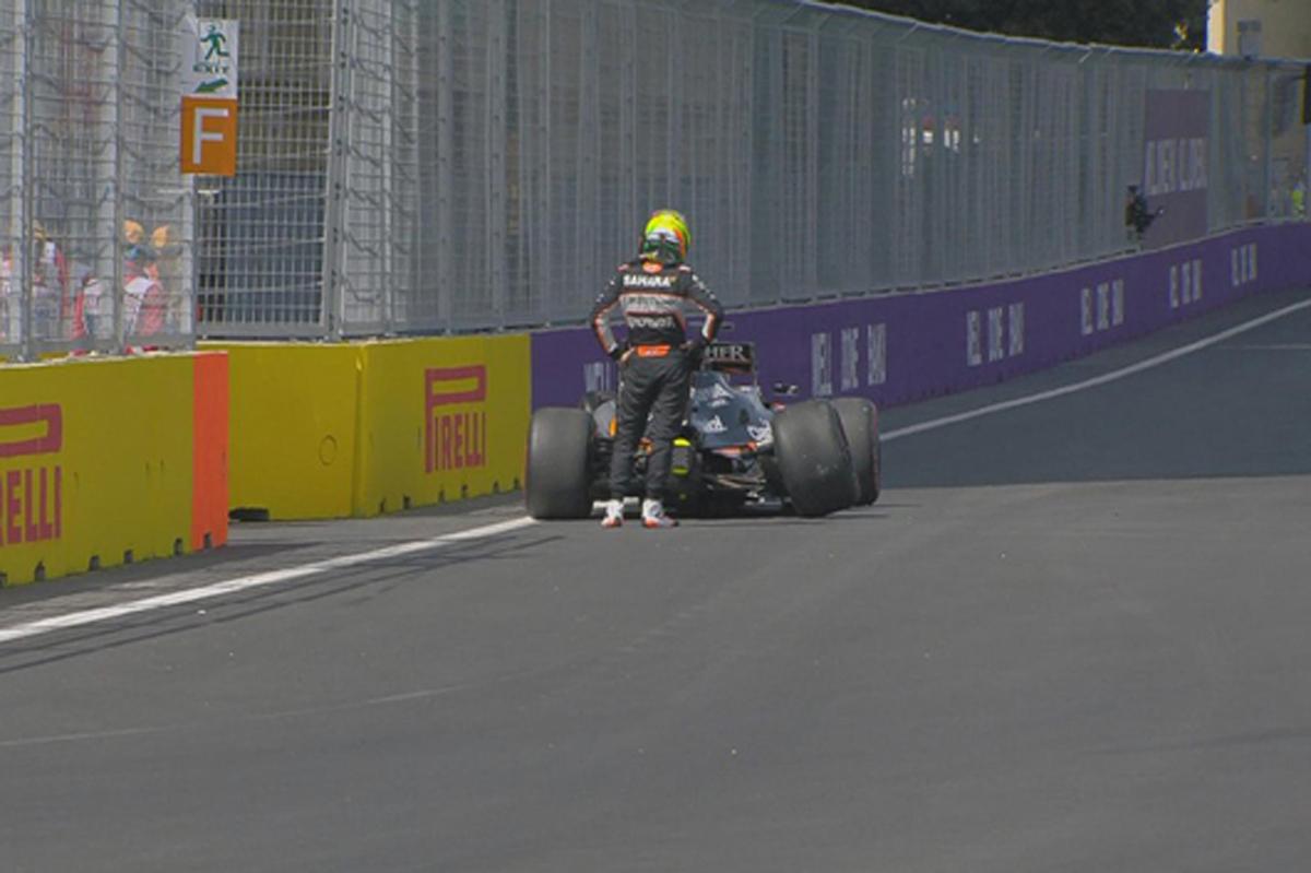 【動画】 セルジオ・ペレスがクラッシュ / F1ヨーロッパGP
