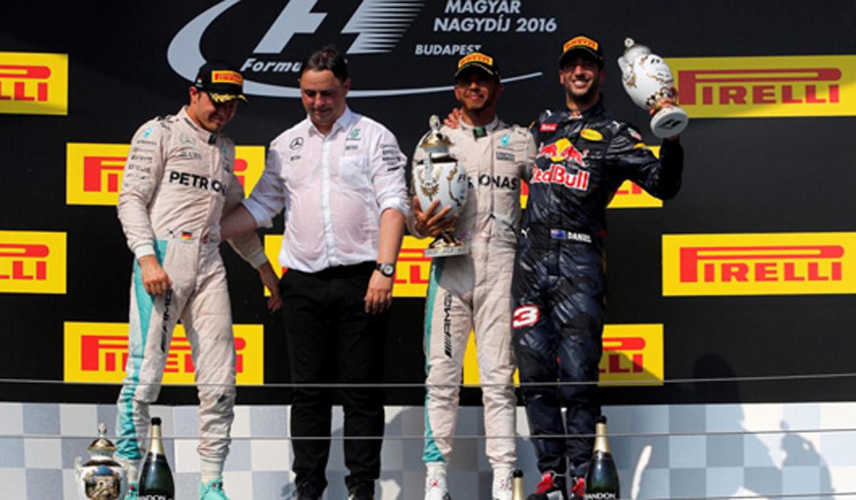 F1 2016 ハンガリー 決勝
