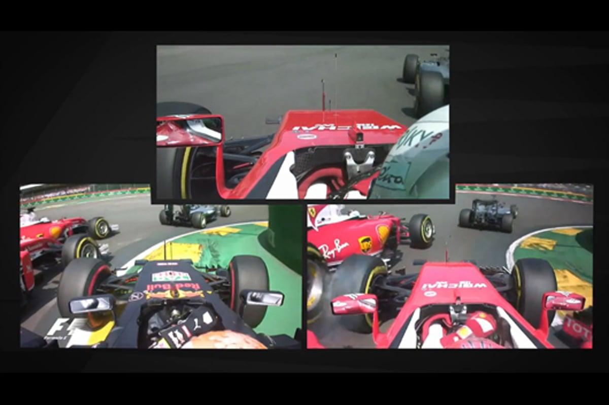 F1 動画 ベルギー 接触