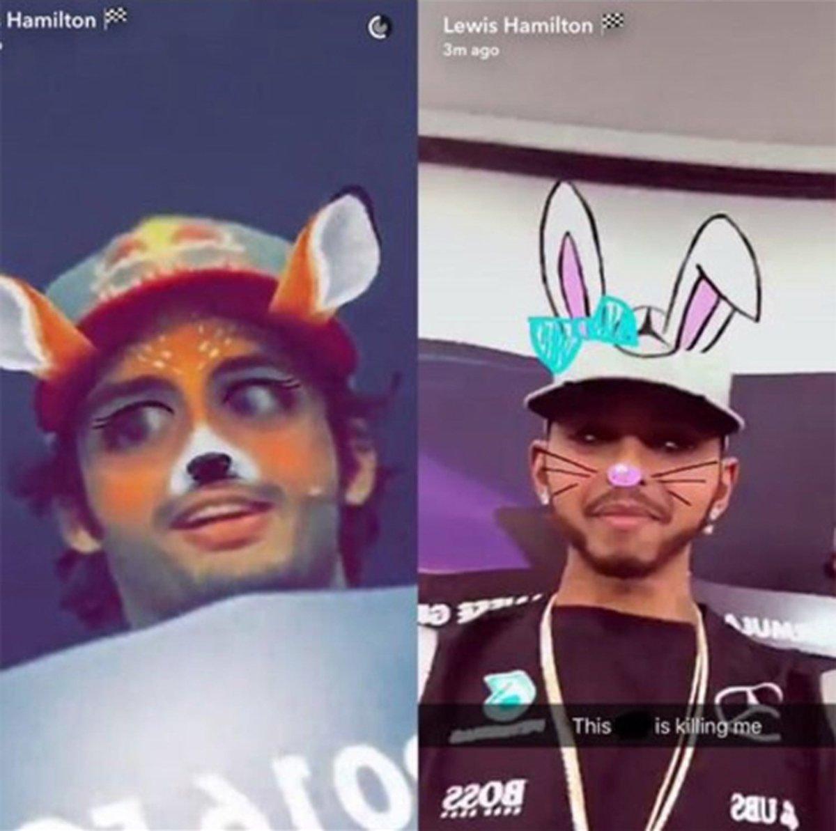 ルイス・ハミルトン Snapchat
