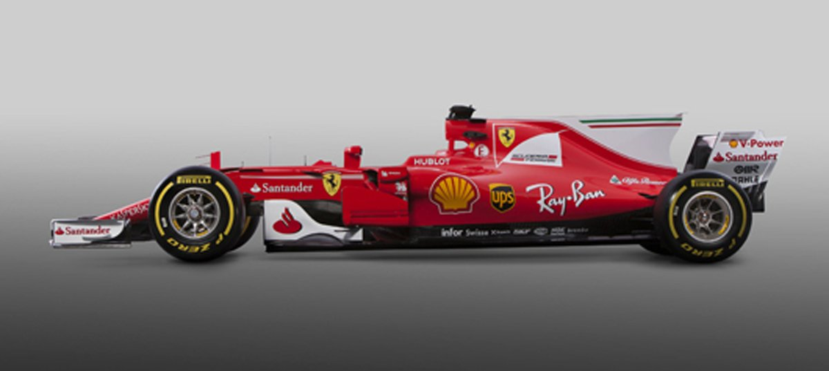 フェラーリ SF70H (サイド)