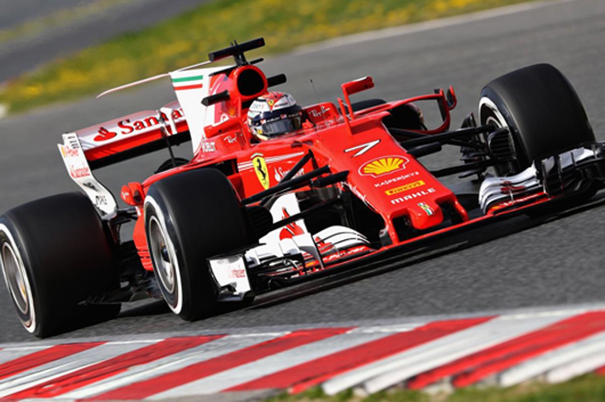 F1 バルセロナテスト 2日目:キミ・ライコネンがトップタイム