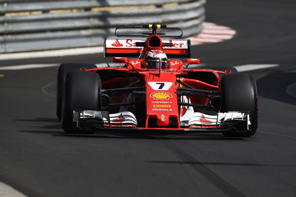F1 モナコGP 予選 ライコネンがポール フェラーリがフロントロー独占