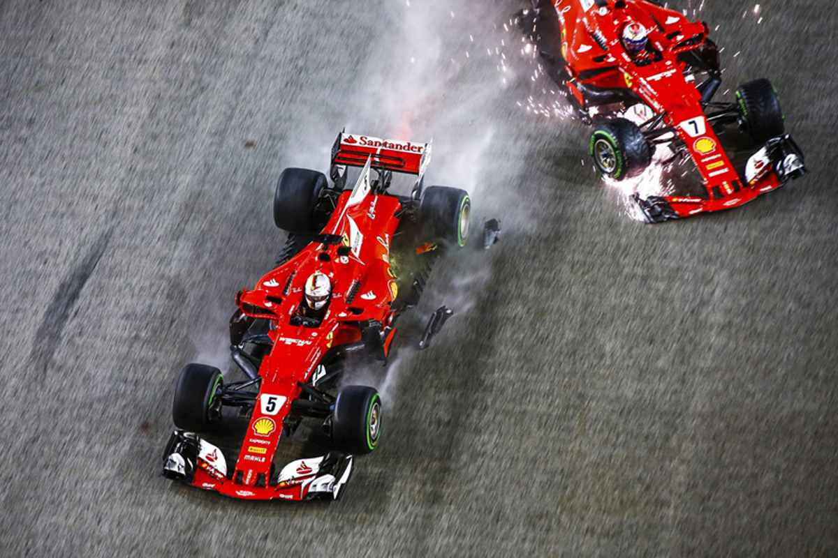 フェラーリ シンガポールグランプリ セバスチャン・ベッテル キミ・ライコネン