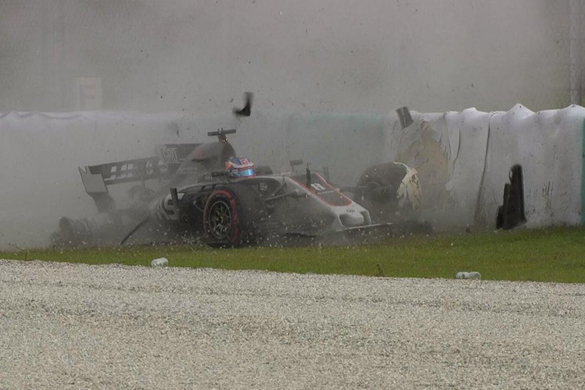 F1 マレーシアグランプリロマン・グロージャン ハースF1チーム