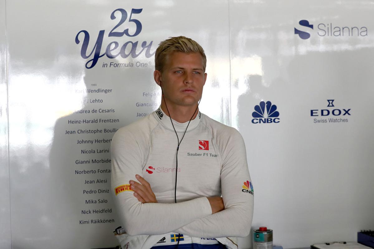 F1 アブダビグランプリ ザウバー マーカス・エリクソン