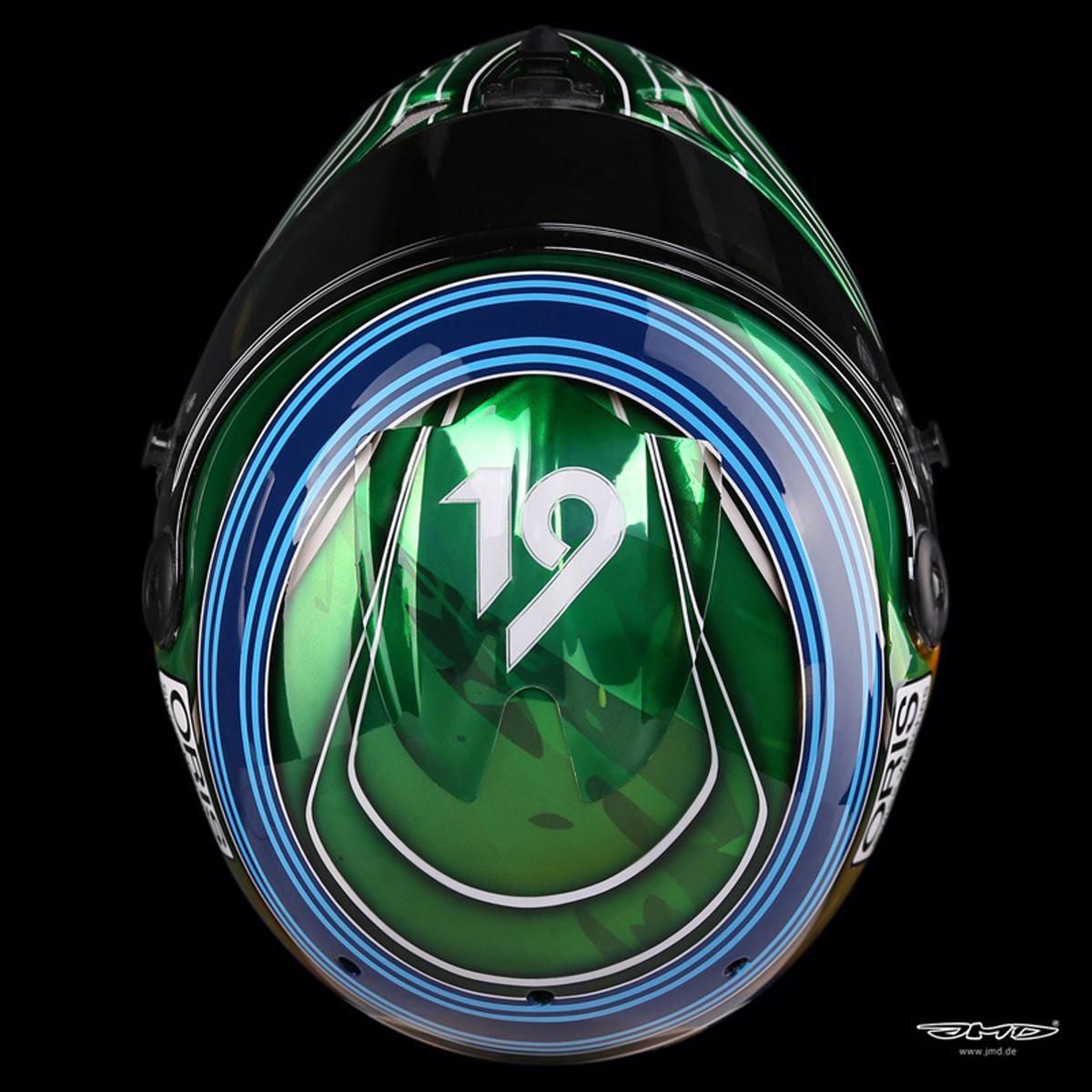 フェリペ・マッサ 2017年 F1アブダビGP ヘルメット(3)
