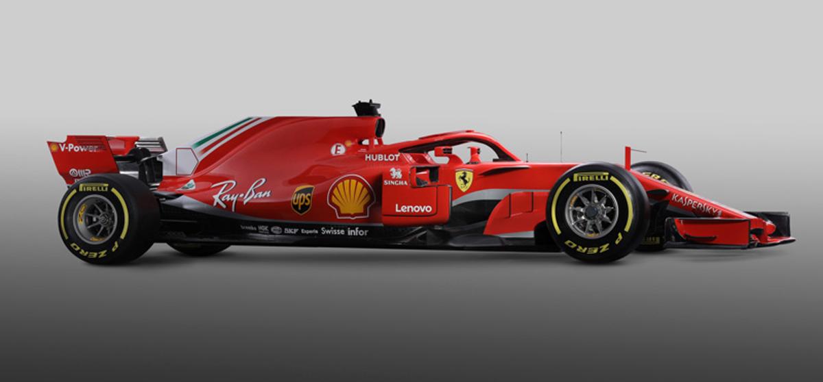 フェラーリ SF71H (サイド)