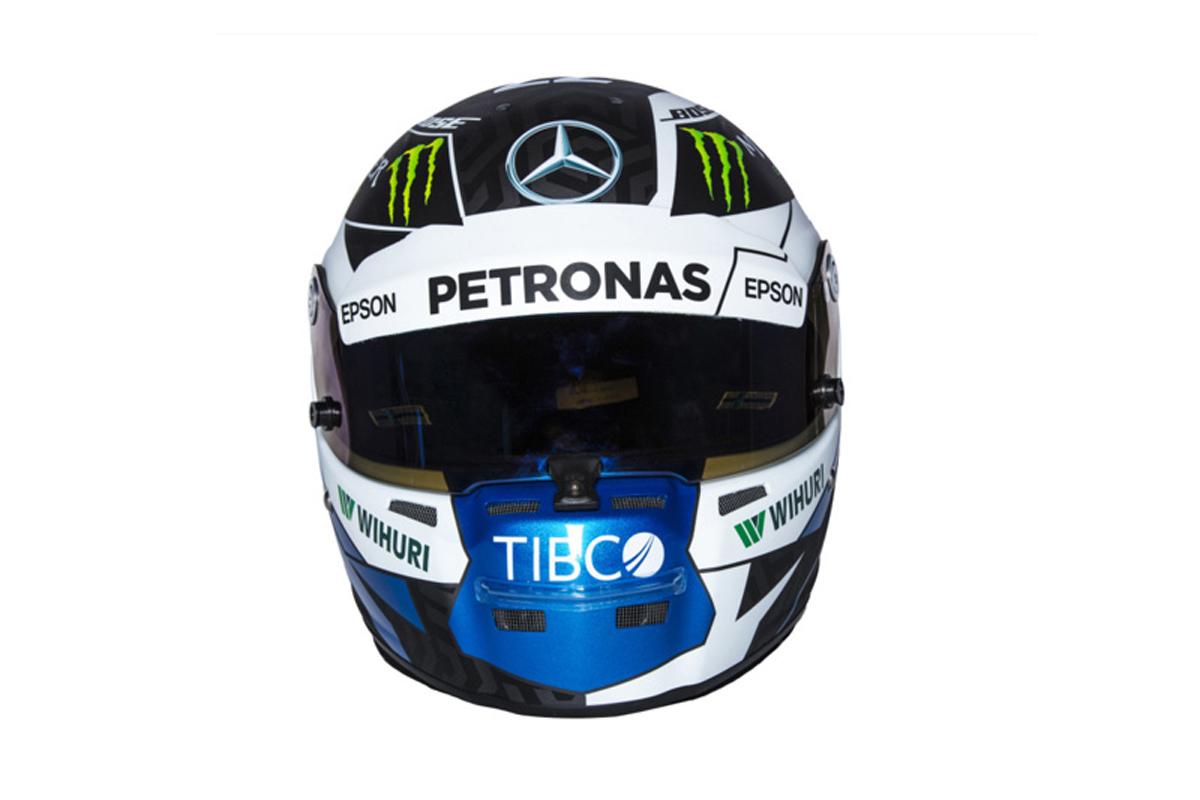 バルテリ・ボッタス 2018年 F1ヘルメット (前面)