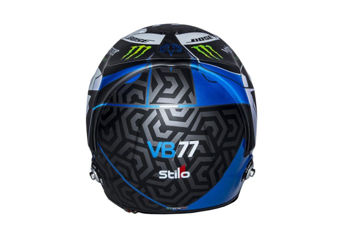 バルテリ・ボッタス 2018年 F1ヘルメット (背面)