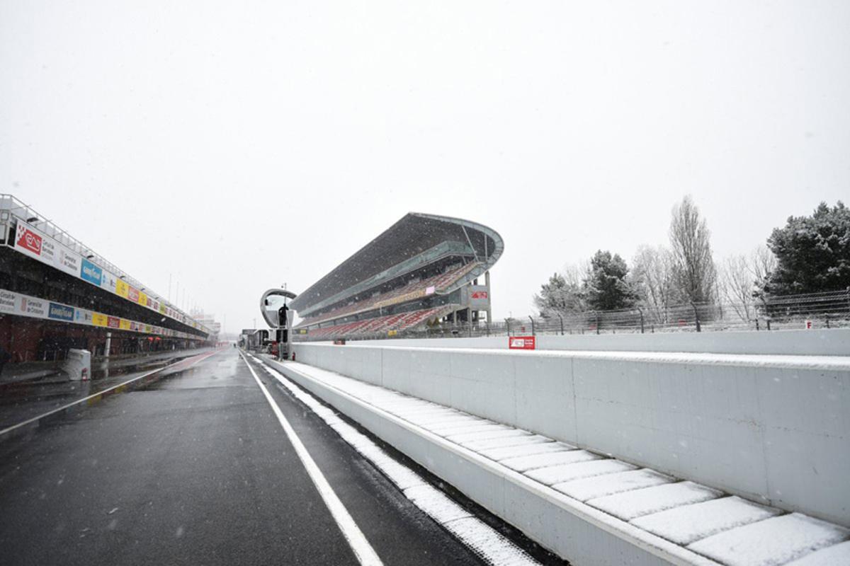 F1 カタロニア・サーキット バルセロナ 雪<br />  2018年のF1世界選手権