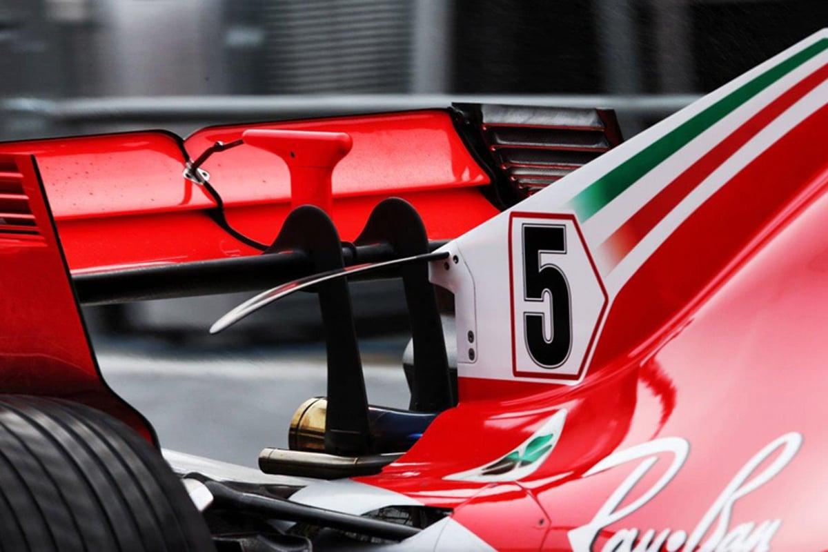 フェラーリ SF71H:ギアボックスウイング